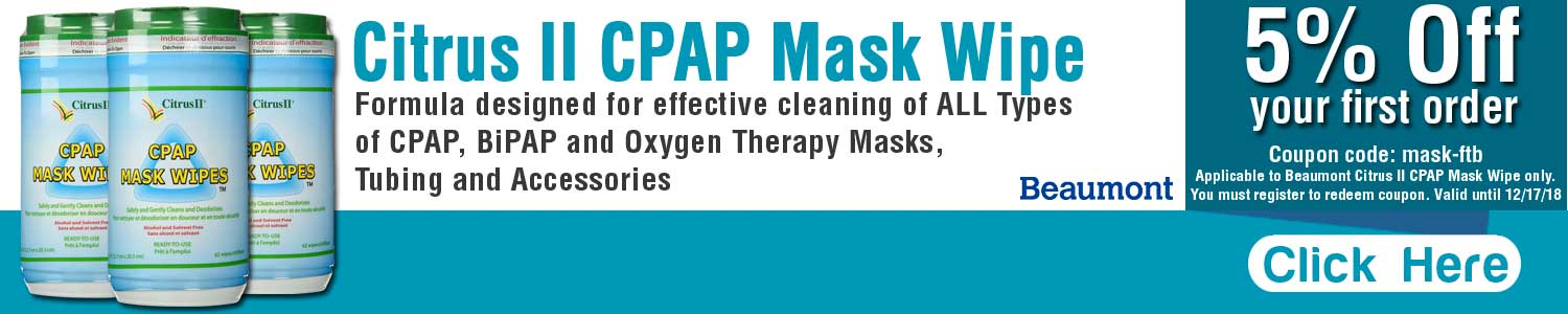 Beaumont Citrus II CPAP Mask Wipe - RespiratoryCareStore.com